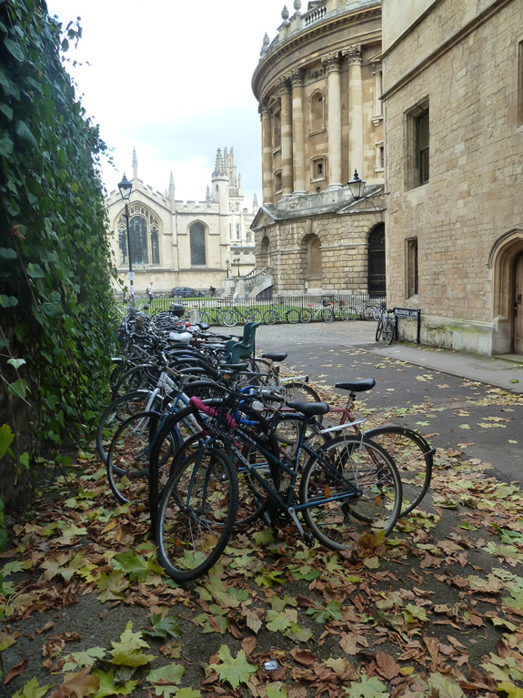 Brasenose lane in Autumn looking toward Raddliffe Square and All Souls