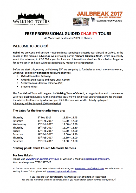 Free Guided Charity Tours